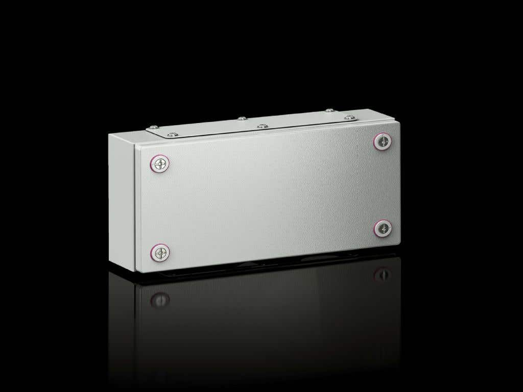 Small enclosures KX Terminal box KX, sheet steel, without gland plate