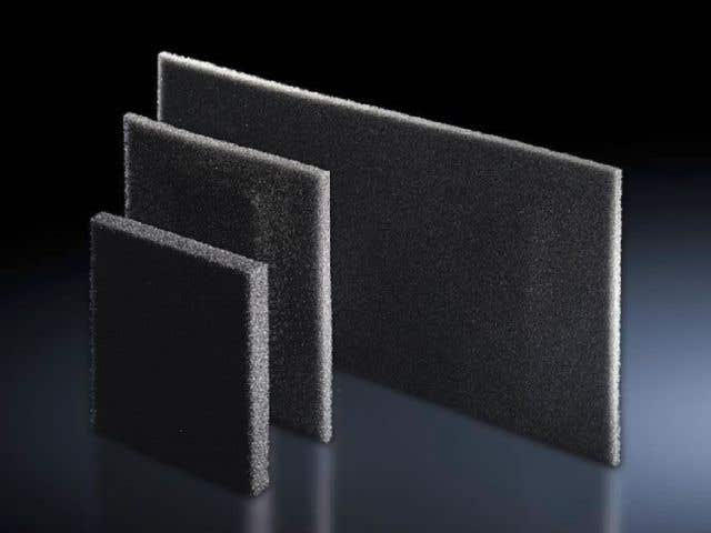 Filter mat for cooling units, air/air heat exchangers and chillers