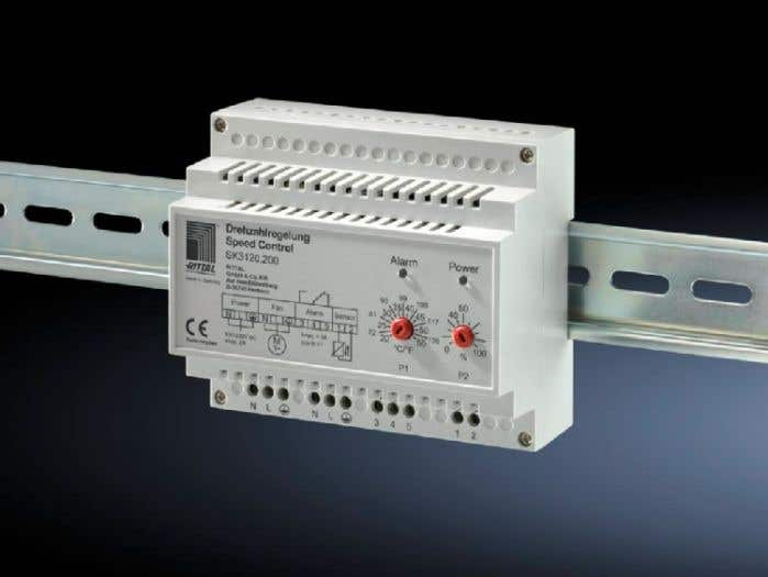 Speed control For fan-and-filter units and air/air heat exchangers