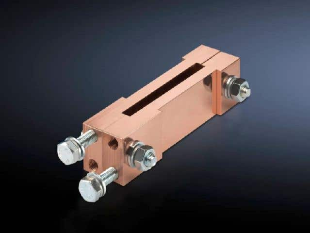 Terminal block, distribution busbar for fuse-switch disconnector section