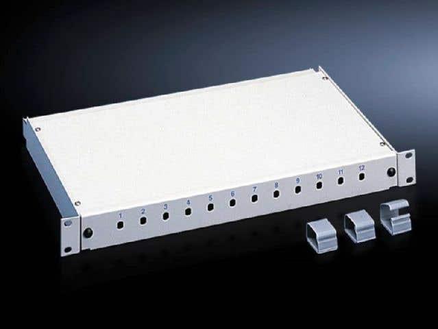 Fibre-optic splicing box, depth-variable