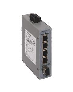 Stratix 2000 Unmanaged switch, 4 copper 10/100 ports, 1  Multimode 100 meg fiber port