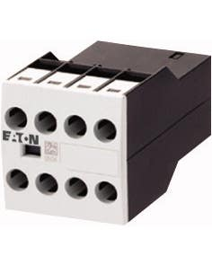 Auxiliary contact module, Type: Front mounting auxiliary contact, 4 pole, Ith= 16 A, 3 N/O, 1 NC, Front fixing, Screw terminals