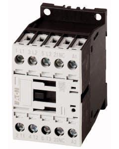 Contactor, 3 pole, 380 V 400 V 3 kW, 1 NC, 230 V 50/60 Hz, AC operation, Screw terminals