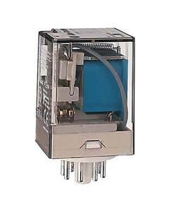 Tube Base Relay,10A Contact,DPDT,24VDC