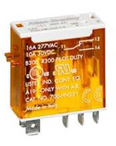 700-HK General Purpose Slim Line Relay, 8 Amp Contact w/ Gold, DPDT, 24V DC