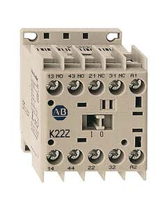MCS Mini Contactors, Screw Type Terminals, System Control Voltage: 24 (17...30)V DC Diode, 3 N.O. / 1 N.C. Auxiliary Contacts