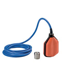 FLOAT SWITCH FOR DRINKING WATER, PVC ACS+AD8 CERTIFICATED CABLE, 5MT LONG