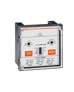 EARTH LEAKAGE RELAY WITH 2 OPERATION THRESHOLDS, FLUSH MOUNT. EXTERNAL CT. FAIL SAFE, 110VAC/DC-240VAC-415VAC