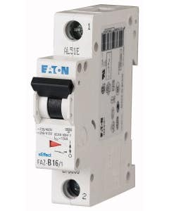 Miniature circuit breaker (MCB), 6 A, 1p, characteristic: C