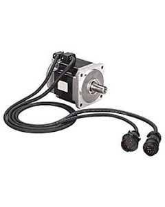 TL-Series Servo Motor, 230V AC, Frame Size 2 = 70 mm (2.75 in.) or NEMA 23, 5000 rpm, Absolute Encoder, Battery-Backed, Multi-Turn, IP65 housing/ Shaft key/No shaft seal, w/ 24V DC Brake, Standard (Metric)